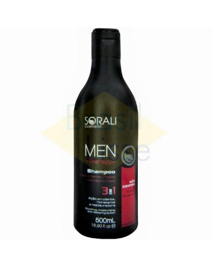 Shampooing sans parabène Men Therapy Sorali 500 ml