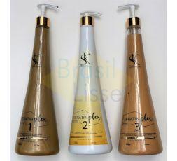 Kit lissage brésilien kératine, plex & protéine SK 3 x 1 L