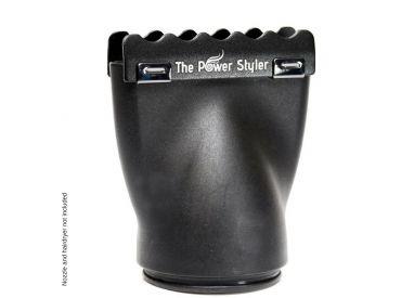 Paire d'embouts céramique pour sèche-cheveux The Power Styler by Daroko : noir