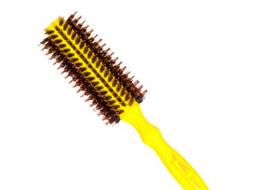 Brosse jaune taille petite The Power Styler by Daroko pour cheveux courts