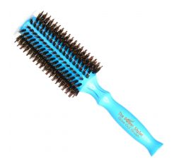 Brosse bleue taille moyenne The Power Styler by Daroko pour cheveux longs ou mi-longs