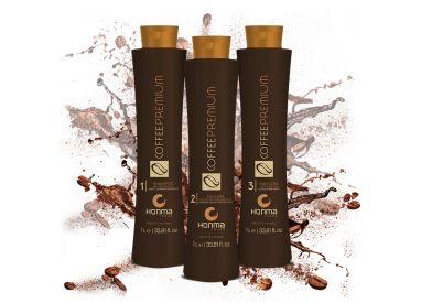 Kit de lissage brésilien Coffee Premium All Liss 3 x 1 L