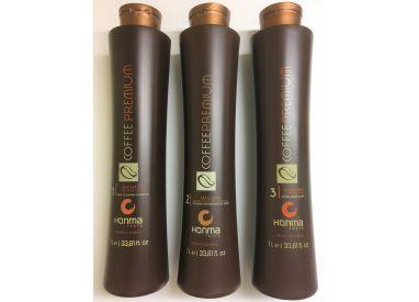 Kit de lissage brésilien Coffee Premium All Liss 3 x 1 L (recto)
