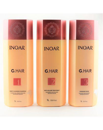 Inoar G.Hair kit de lissage brésilien 3 x 1 L