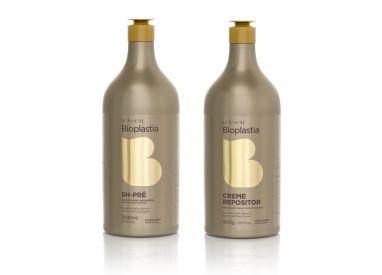 Kit professionnel régénérant Bioplastia Lowell shampooing pré-traitement 1 L + crème 900 g