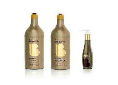 Kit complet régénérant Bioplastia Lowell shampooing 1 L +  crème 900 g + fluide réparateur 100 g