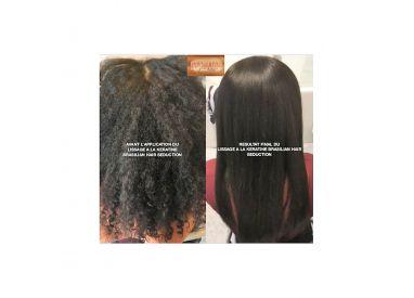 Lissage brésilien Brasilian Hair Seduction : avant / après