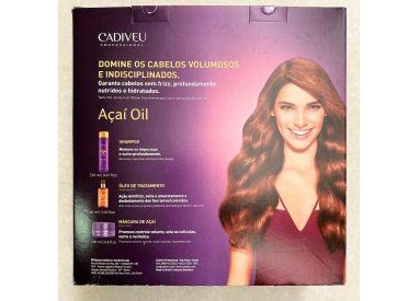 Pack Açaí Oil Cadiveu 1 shampooing 250 ml + 1 masque 200 ml + 1 huile 60 ml