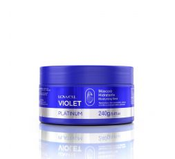 Masque hydratant anti-jaunissement Violet Platinum Lowell 240 g