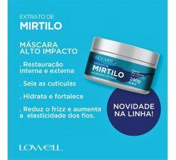 Masque Mirtilo aux extraits de myrtille Lowell 240 g