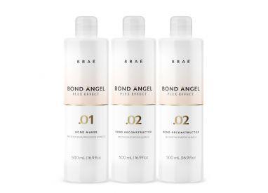 Kit professionnel Plex Effect Bond Angel Braé 3 x 500 ml (1 bouteille .01 Bond Angel + 2 bouteilles .02 Bond Angel)
