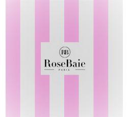 Serviette RoseBaie rayée rose & blanche