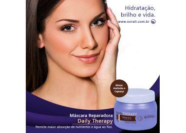 Masque réparateur Daily Therapy Sorali 250 g : favorise l'absorption des nutriments et de l'eau par la fibre