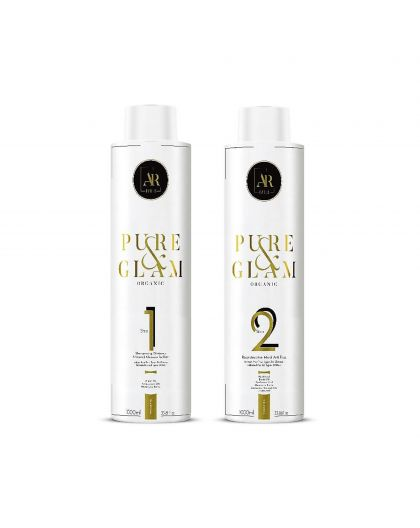 Kit lissage brésilien Organic Pure & Glam AR Paris 2 x 1 L