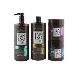 Kit lissage au tanin A - B - D - F Tanino Therapy Salavatore lissant et réparateur pour cheveux abîmés et cassants