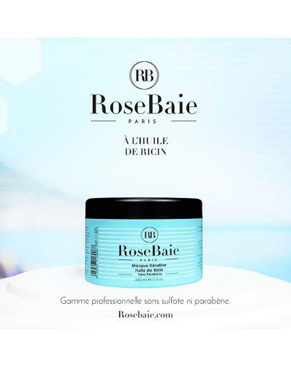 Masque kératine et huile de ricin RoseBaie 500 ml