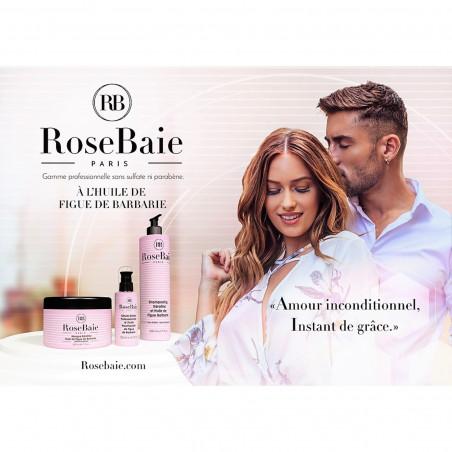 Kit kératine et huile de figue de barbarie RoseBaie 3 produits : shampooing + masque + sérum (communication)