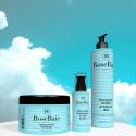 Kit kératine et huile de ricin 3 produits : shampooing (500 ml) + masque (500 ml) + sérum (100 ml) (fond ciel)