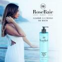 Shampooing kératine et huile de ricin RoseBaie 500 ml avec modèle